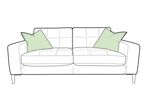 Como Fabric Small Sofa