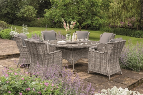 Helmsley 6 Seat Dining Set - lazy Susan not included