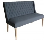 Belgravia Bench In Slate Fabric