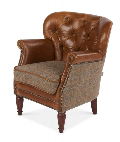 Heritage Monroe Armchair - Gamekeeper & Leather FT