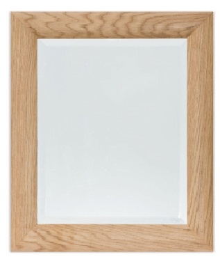 Bevelled Mirrors Curved Oak 20 x16