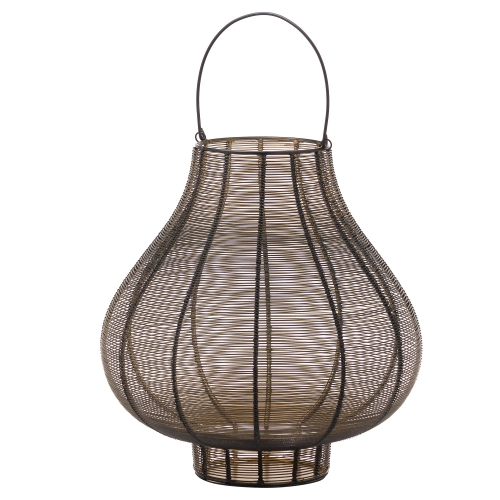 Large Glawray Bulbous Wire Lantern