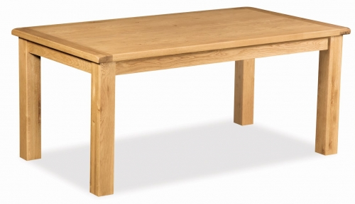 Country Rustic Waxed Oak 1.8 Fixed Top Dining Table