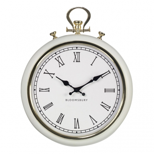 White Pocket Watch Clock