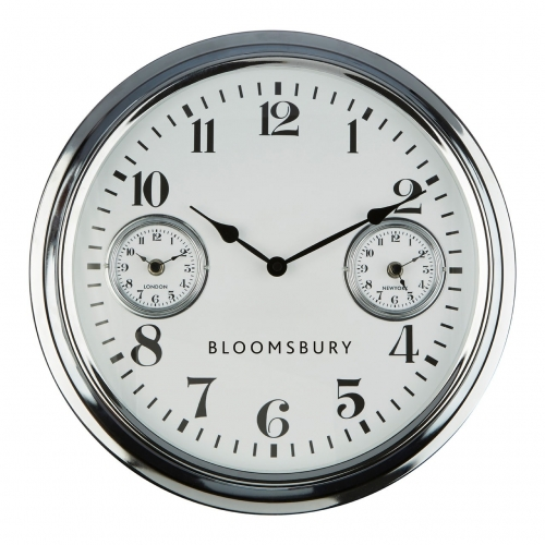 Bloomsbury Chrome Wall Clock