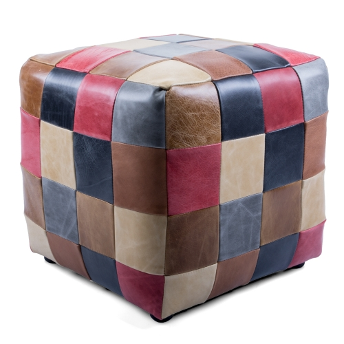 Heritage Patchwork Cube Button Footstool
