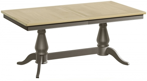 Malham Painted Twin Pedestal Extending Dining Table