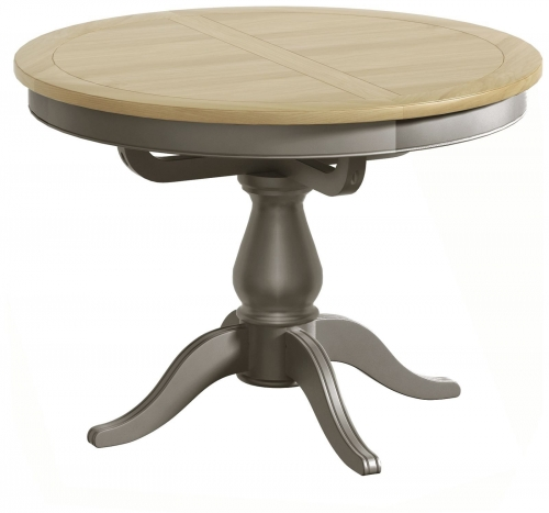 Malham Painted Single Pedestal Extending Dining Table