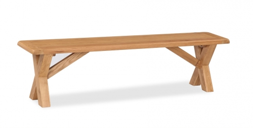 Country Waxed Oak Cross Bench
