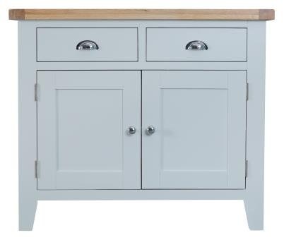Thornton Painted Grey with Oak Top 2 Door Sideboard