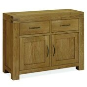 Sutton Rustic Waxed Oak 2 Door 2 Drawer Sideboard