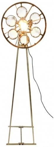 Galaxy Floor Standing Magnifying Lamp - Gold Finish