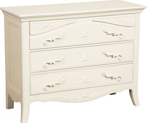 Epernay Painted 3 Drawer Wide  Chest