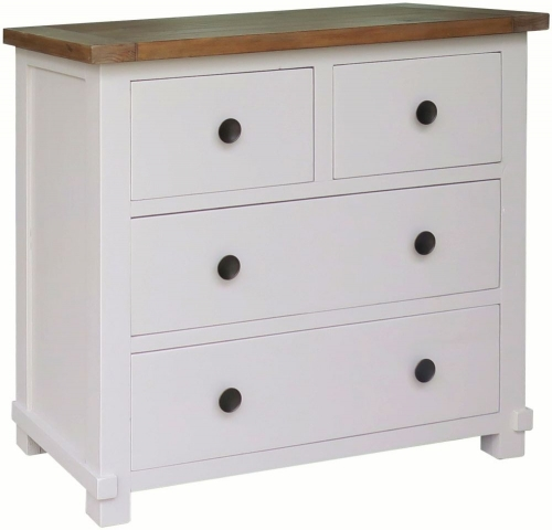 Rosedale Distressed Painted 2 Over 2 Chest