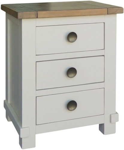 Rosedale Distressed Painted Bedside Table