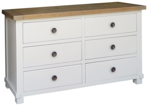 Rosedale Distressed Painted Wide Chest