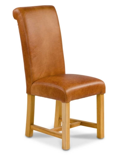 Heritage Grand Rollback Dining Chair - Full Leather