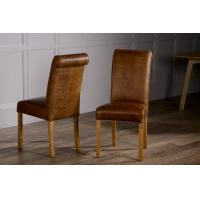 Heritage Rollback Dining Chair - Full Leather