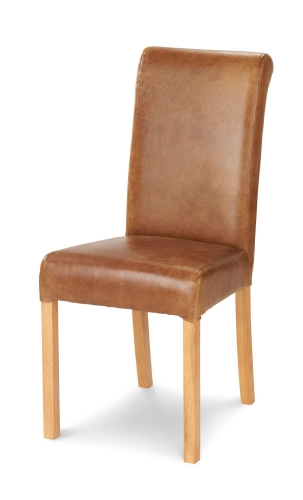 Heritage Rollback Dining Chair - Leather/Gamekeeper Thorn