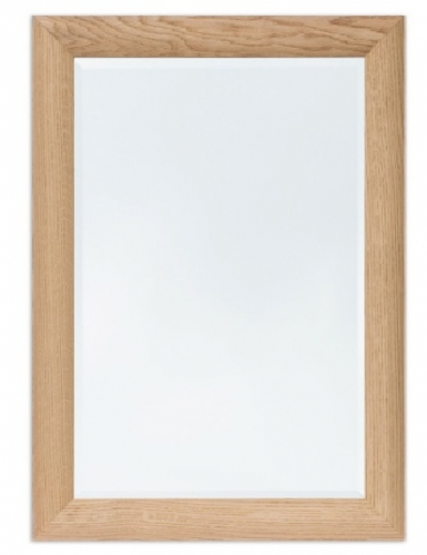 Bevelled Mirror Curved Oak 30 x 20