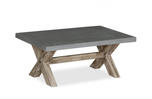 Cleveland Acacia & Concrete Coffee Table