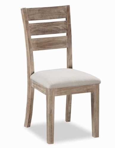 Cleveland Acacia & Concrete Dining Chair