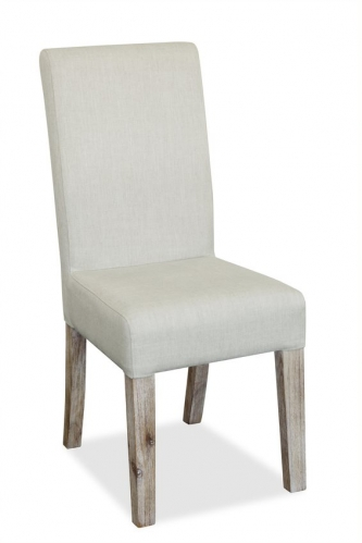 Cleveland Acacia & Concrete Upholstered Dining Chair