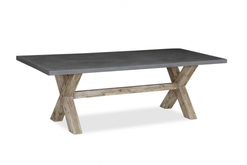 Cleveland Acacia & Concrete Dining Table 190cm