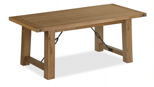 Forge Industrial Oak Fixed Top Table 190cm