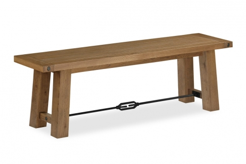 Forge Industrial Oak Bench
