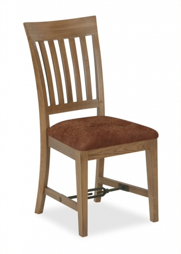 Forge Industrial Oak Slatted Dining Chair