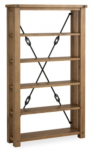 Forge Industrial Oak Display Cabinet