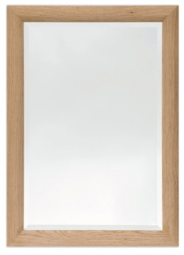 Bevelled Mirror Curved Oak 36 x 24