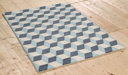 New Wool 3D Blue Rug