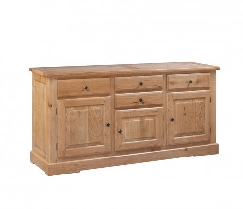 Hebden Solid Oak 3 Door 4 Drawer Sideboard