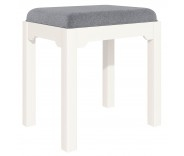Ascot White Dressing Table Stool