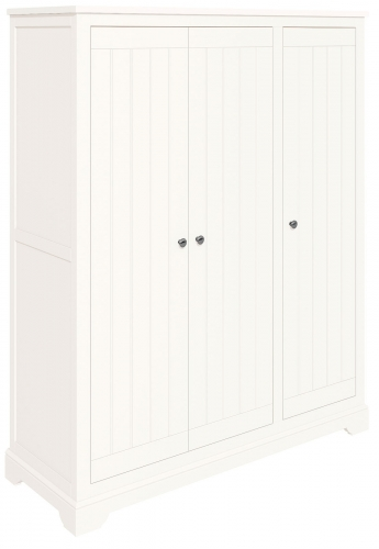 Ascot White Full Hanging Triple Wardrobe