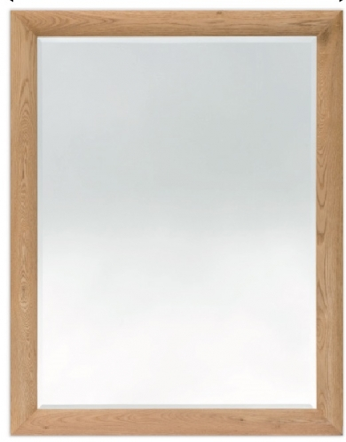 Bevelled Mirror Curved Oak 40 x 30