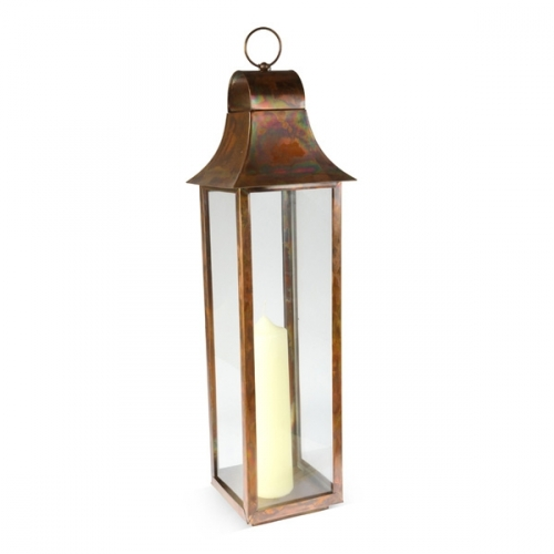 Large Tonto Lantern - Burnished Copper Finish