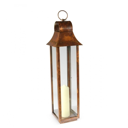Medium Tonto Lantern - Brushed Copper Finish