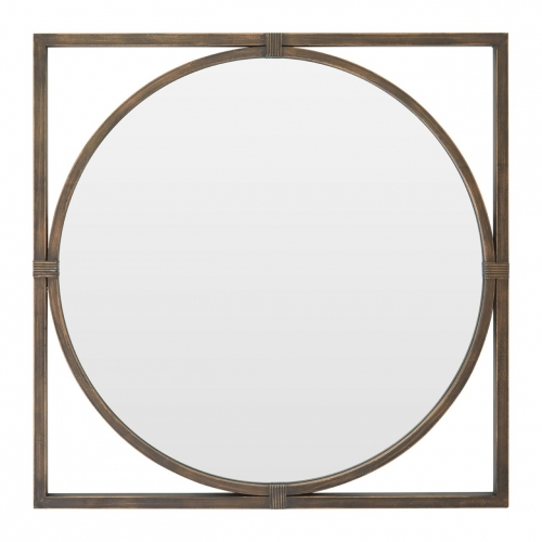 Bronze Square Wall Mirror