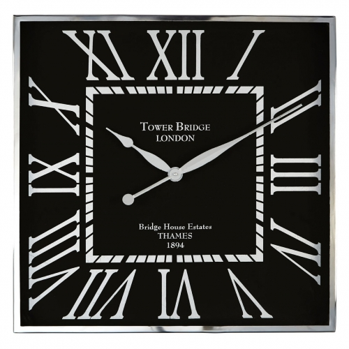 Square Town house Wall Clock