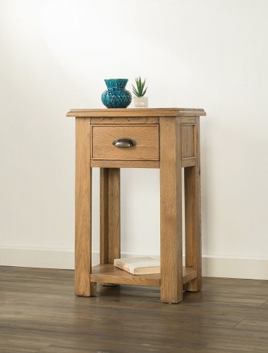 Farnley Solid Oak 1 Drawer Small Console Table