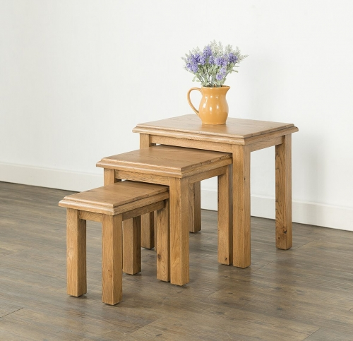 Farnley Solid Oak Nest of Tables