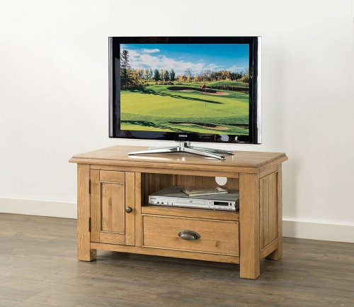 Farnley Solid Oak Standard TV Unit