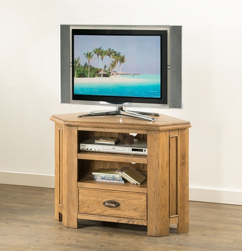 Farnley Solid Oak Corner TV Unit
