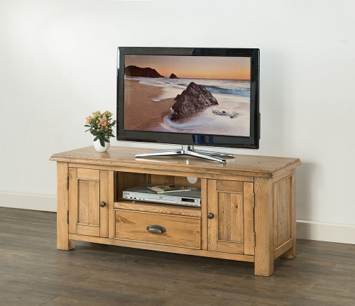 Farnley Solid Oak Large TV Unit
