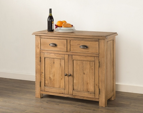 Farnley Solid Oak 2 Door Sideboard