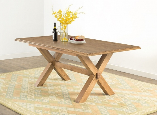 Farnley Solid Oak Cross Leg Dining Table