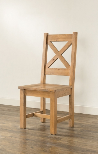 Farnley Solid Oak Cross Back Dining Chair